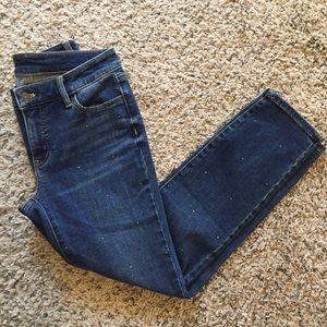 Talbots Slim Ankle Studded Jean size 2P!